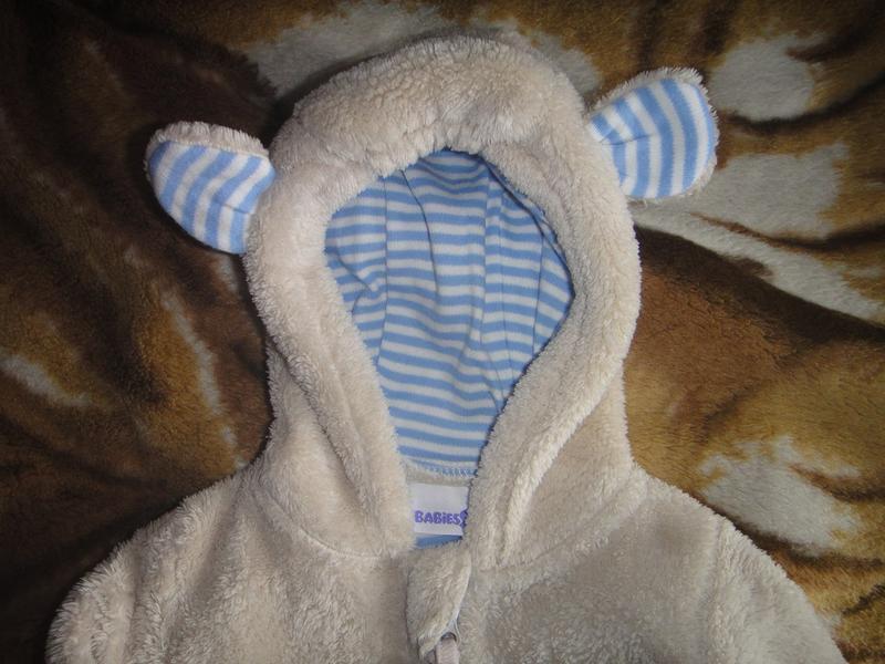 Махровая кофта babies rus с капюшоном на новорожденного - Фото 4