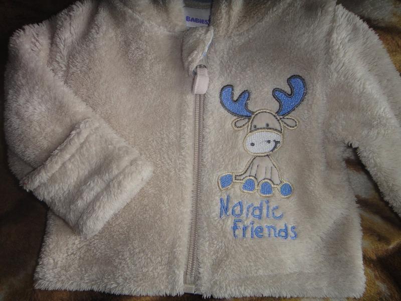 Махровая кофта babies rus с капюшоном на новорожденного - Фото 5
