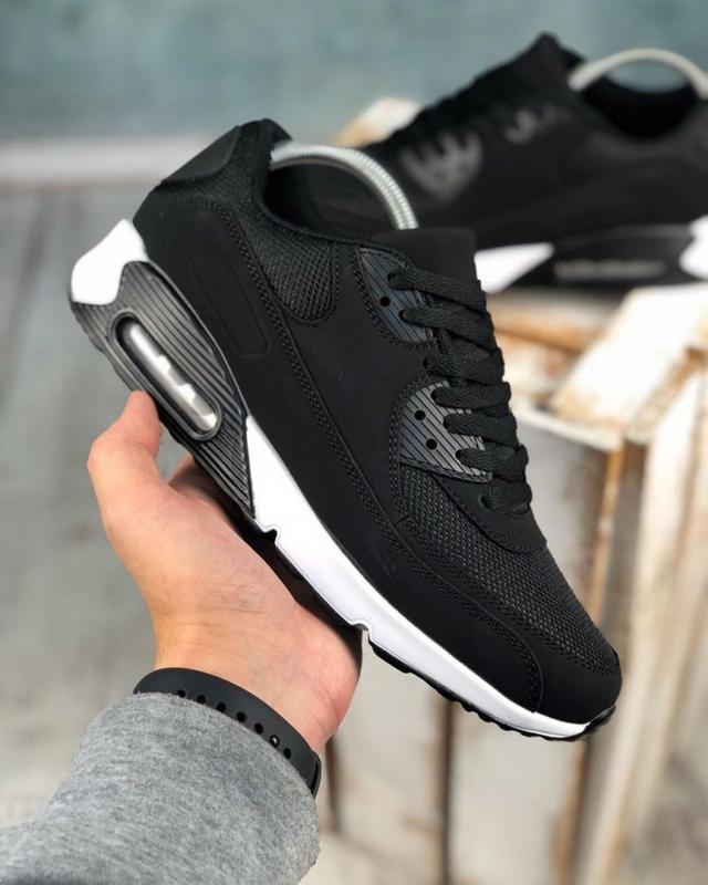 Обувь в стиле air max 90 black and white - Фото 3