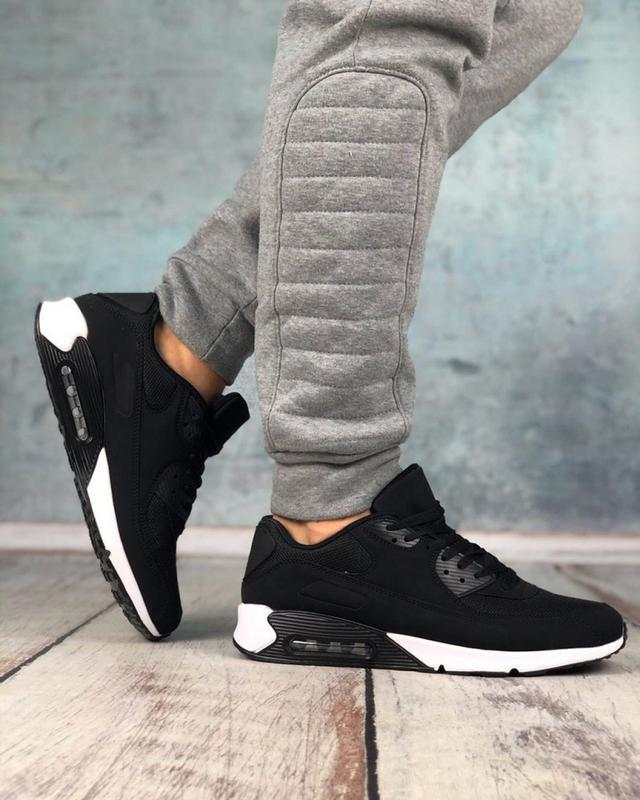 Обувь в стиле air max 90 black and white - Фото 4