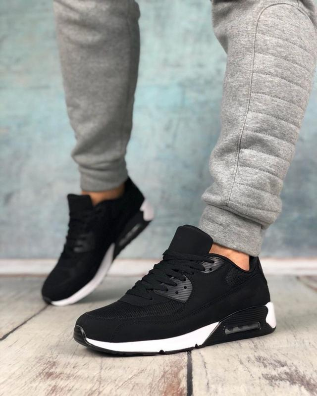 Обувь в стиле air max 90 black and white - Фото 7