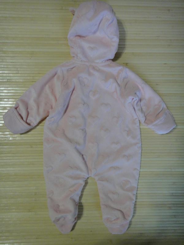 Флисовый человечек-комбинезон george с капюшоном  first size, ... - Фото 3