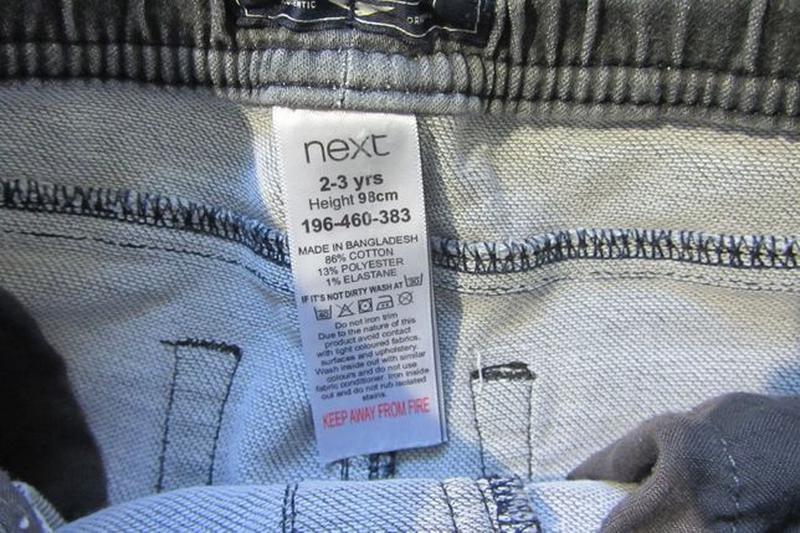 Стрейчевые модные джинсы штаны Next Некст для мальчика 2-3 год... - Фото 3