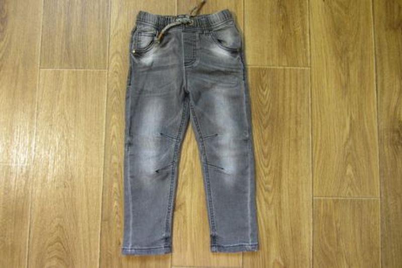 Стрейчевые модные джинсы штаны Next Некст для мальчика 2-3 год... - Фото 4