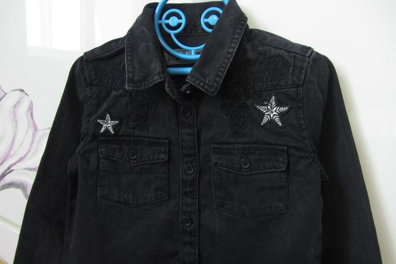 Набор 3-4 года 104: джинсовая рубашка с длинным рукавом джинсы... - Фото 3