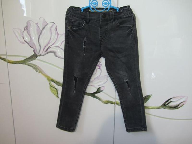 Набор 3-4 года 104: джинсовая рубашка с длинным рукавом джинсы... - Фото 4
