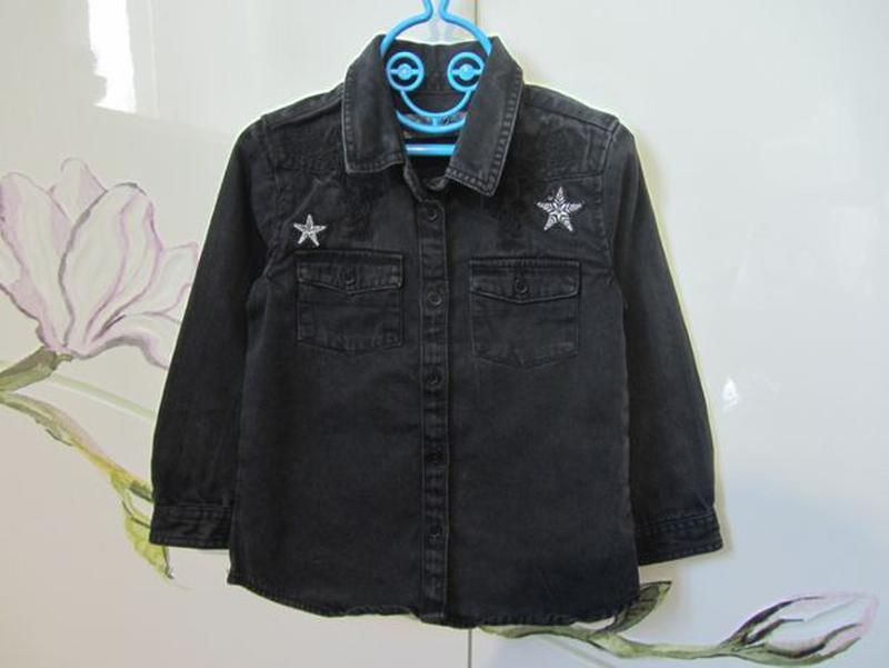 Набор 3-4 года 104: джинсовая рубашка с длинным рукавом джинсы... - Фото 5