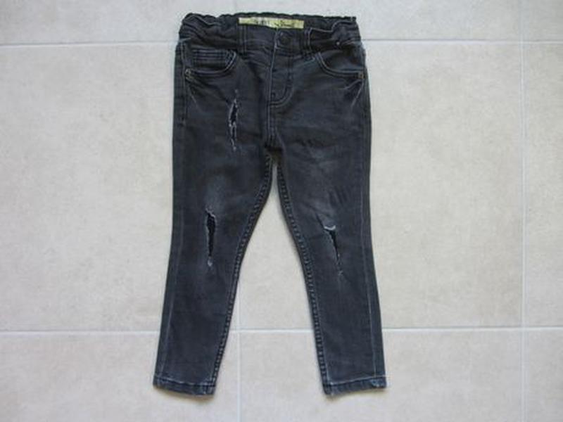 Набор 3-4 года 104: джинсовая рубашка с длинным рукавом джинсы... - Фото 6