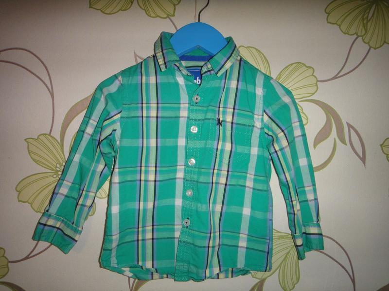 Зеленая рубашка rebel 1,5-2 года, 92 см