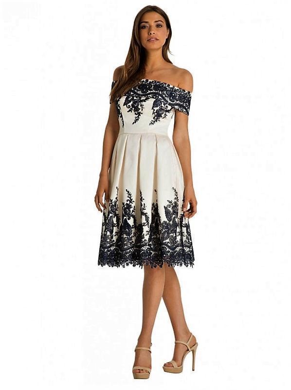Кремовое кружевное платье-миди👗открытые плечи,дорогого бренда ... - Фото 2
