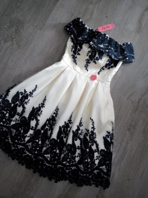 Кремовое кружевное платье-миди👗открытые плечи,дорогого бренда ... - Фото 3