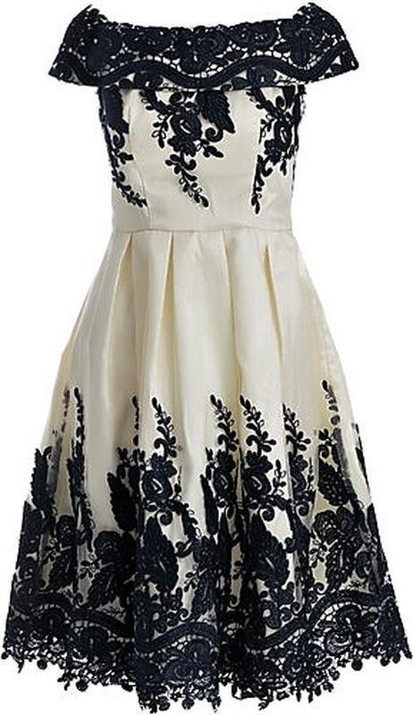 Кремовое кружевное платье-миди👗открытые плечи,дорогого бренда ... - Фото 4