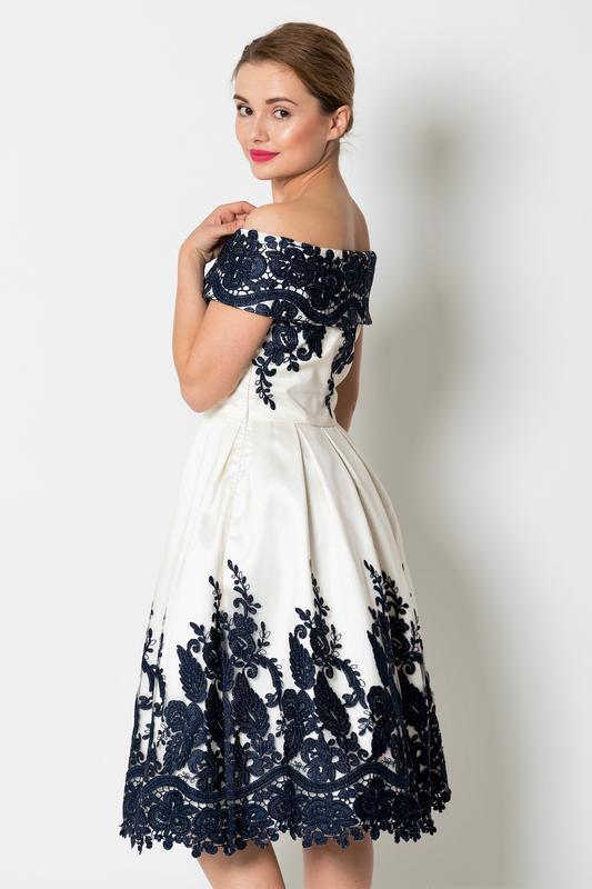 Кремовое кружевное платье-миди👗открытые плечи,дорогого бренда ... - Фото 6