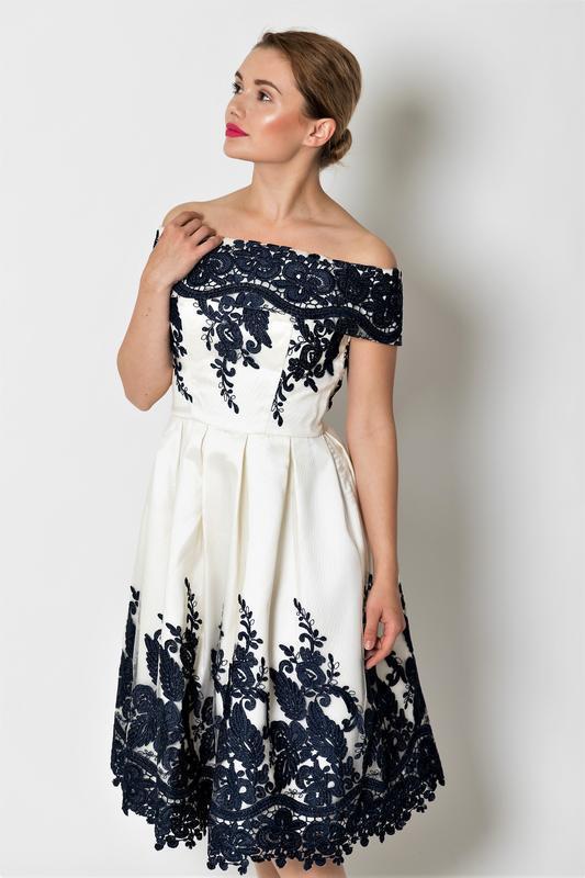 Кремовое кружевное платье-миди👗открытые плечи,дорогого бренда ... - Фото 7