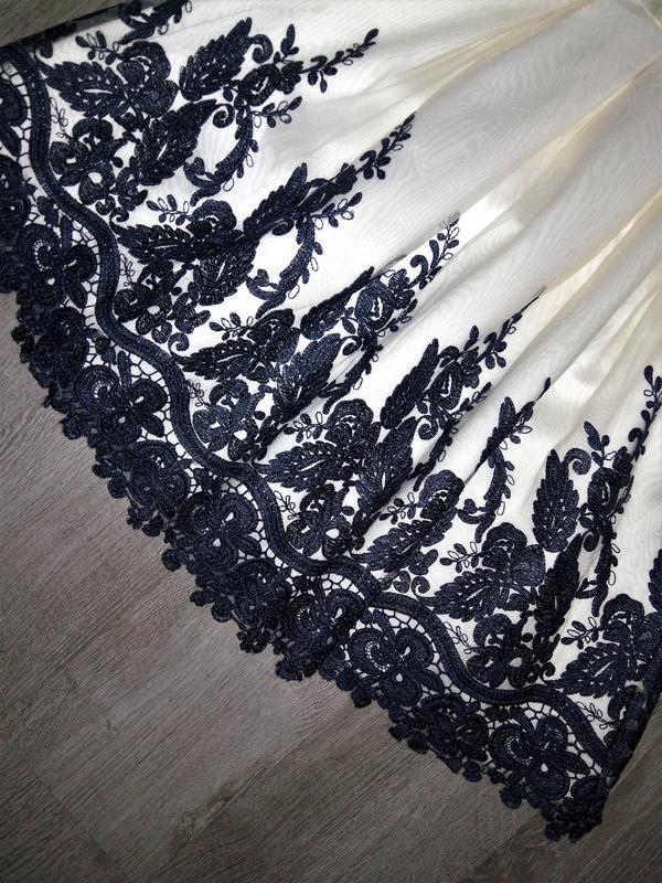 Кремовое кружевное платье-миди👗открытые плечи,дорогого бренда ... - Фото 9