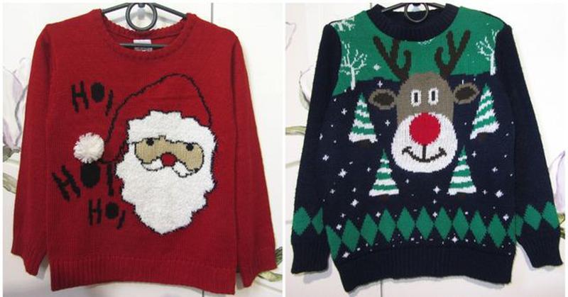 Новогодний новорічний свитер светр кофта Дед Мороз 5-6 лет 110...