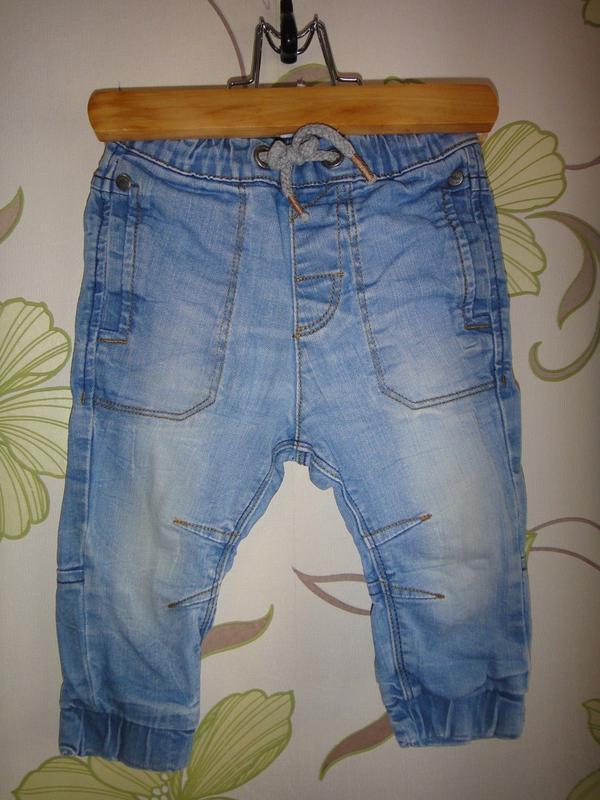 Голубые джинсы next 9-12 мес, 80 см