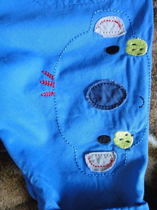 Голубой комбинезон mothercare 0-3 мес - Фото 3