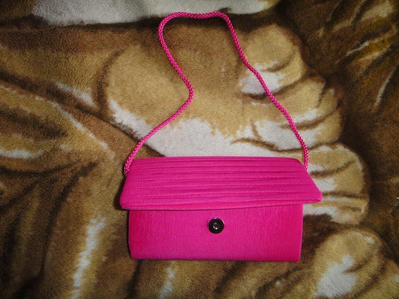 Розовый клатч m&s - Фото 2