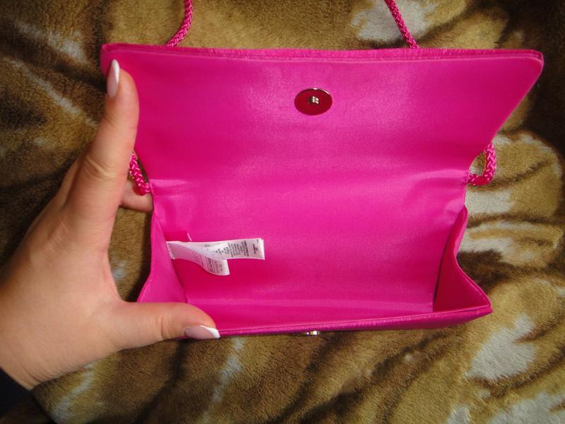 Розовый клатч m&s - Фото 3