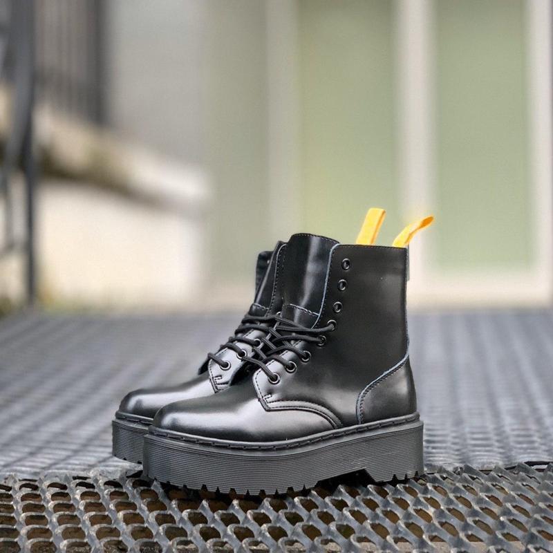 Ботинки на платформе dr. martens jadon all black