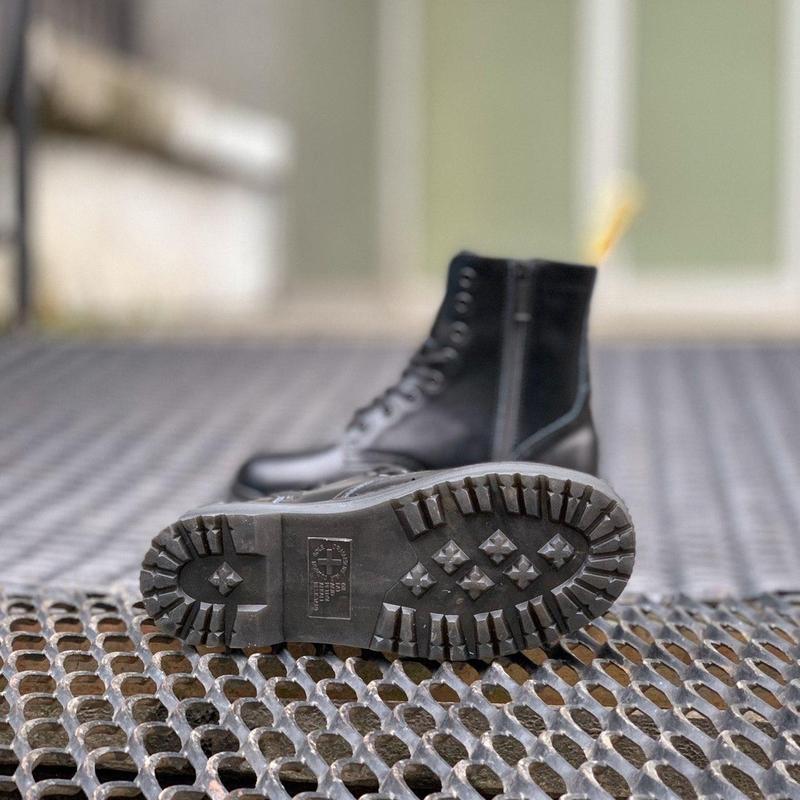 Ботинки на платформе dr. martens jadon all black - Фото 4