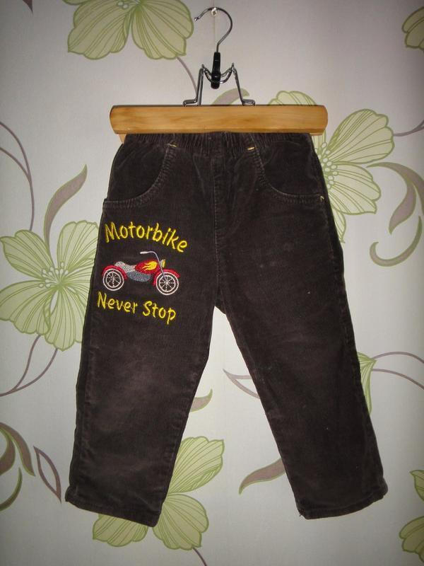 Коричневые вельветовые штаны gloria jeans 12-18 мес , 86 см