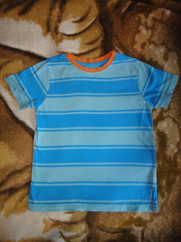 Голубая футболка f&f  4-5 лет, 110 см