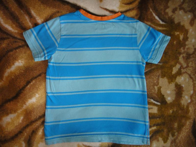 Голубая футболка f&f  4-5 лет, 110 см - Фото 2