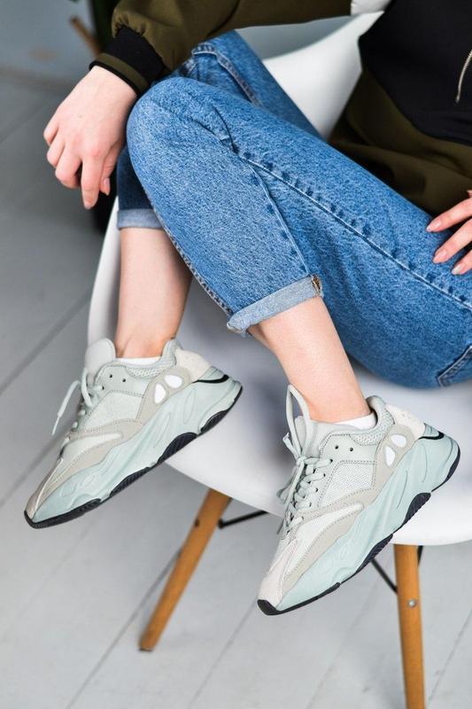 Adidas yeezy шикарные женские кроссовки замша/весна/лето/осень😍