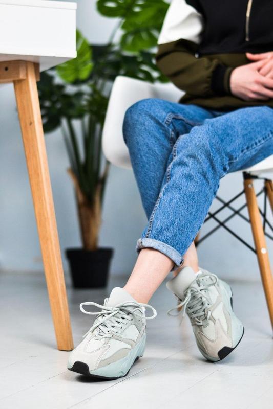 Adidas yeezy шикарные женские кроссовки замша/весна/лето/осень😍 - Фото 2