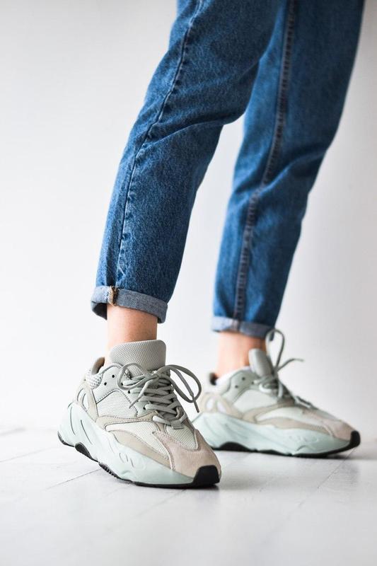 Adidas yeezy шикарные женские кроссовки замша/весна/лето/осень😍 - Фото 4