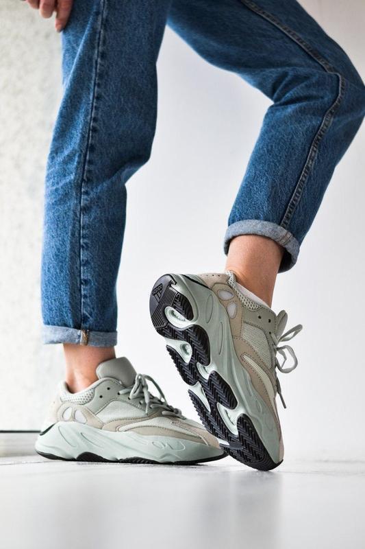 Adidas yeezy шикарные женские кроссовки замша/весна/лето/осень😍 - Фото 5