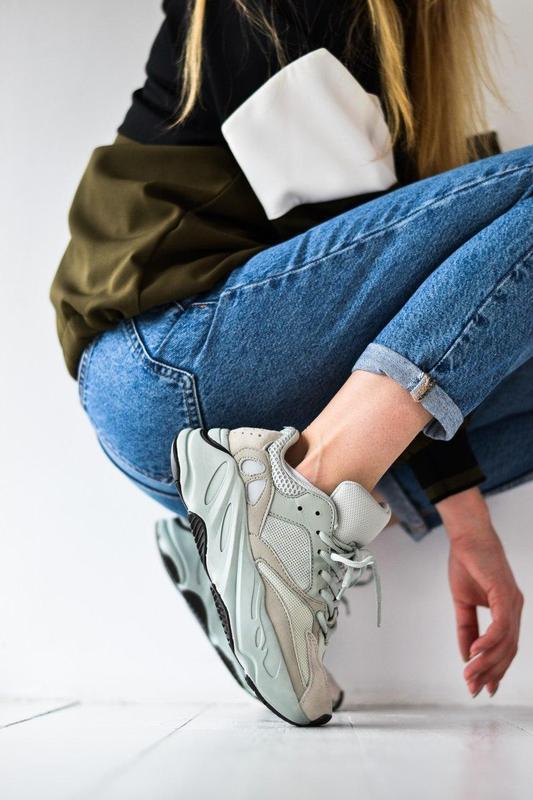 Adidas yeezy шикарные женские кроссовки замша/весна/лето/осень😍 - Фото 6