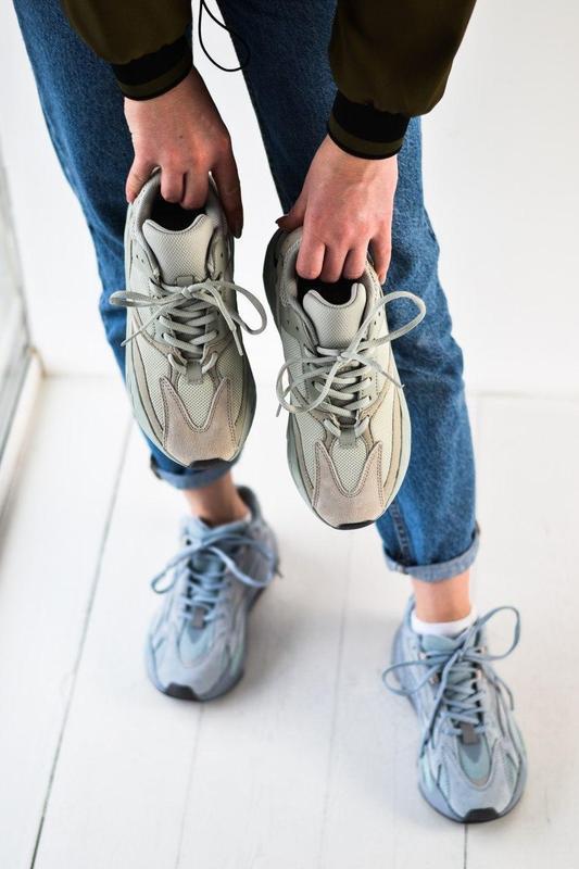 Adidas yeezy шикарные женские кроссовки замша/весна/лето/осень😍 - Фото 10