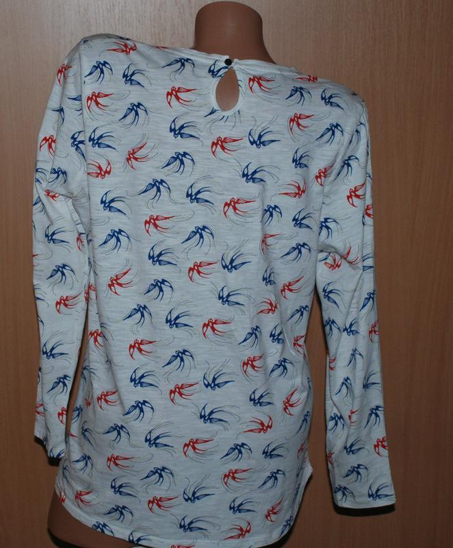 Блуза принтованая бренда marks & spencer /100%хлопок/ - Фото 3