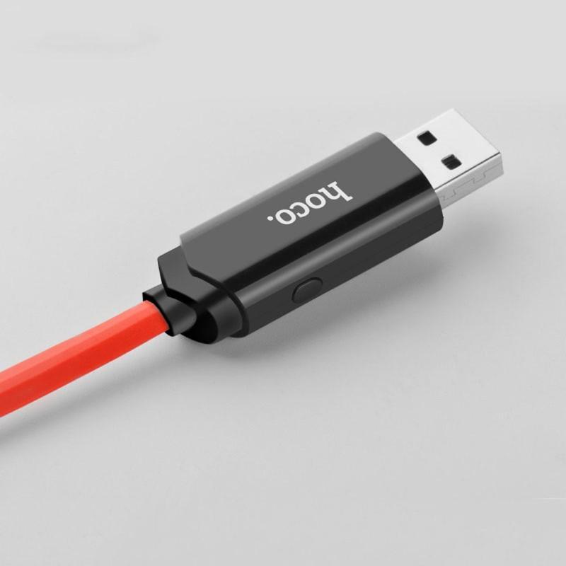 Кабель Lightning Hoco U29 LED Dislayed Timing 1.2m красный - Фото 5