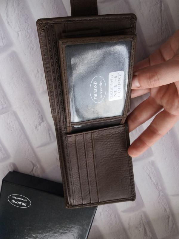 Кожаный кошелек мужской чоловічий гаманець. кожаное портмоне - Фото 2