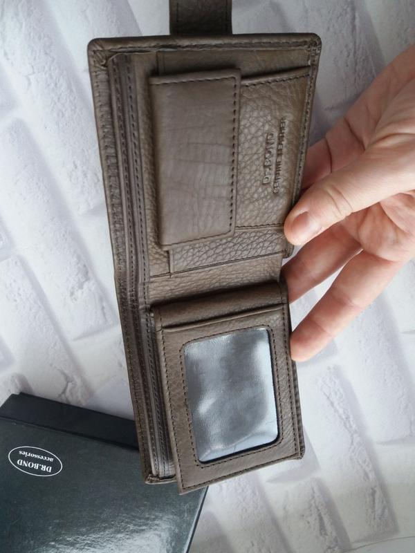 Кожаный кошелек мужской чоловічий гаманець. кожаное портмоне - Фото 3