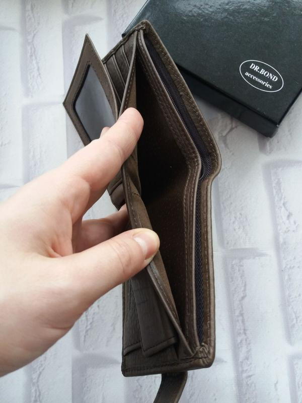 Кожаный кошелек мужской чоловічий гаманець. кожаное портмоне - Фото 4