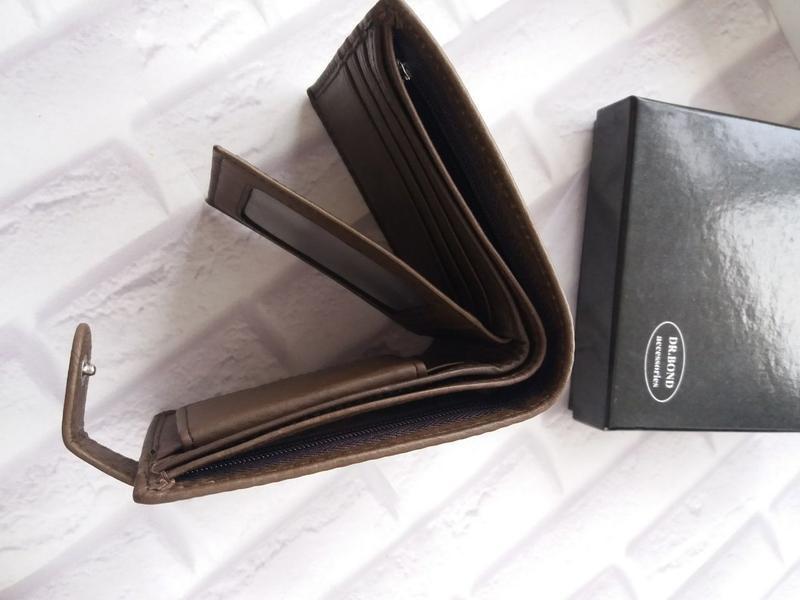 Кожаный кошелек мужской чоловічий гаманець. кожаное портмоне - Фото 5