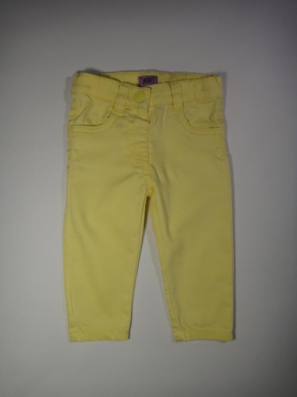 Желтые джинсы f&f 6-9 мес, 74 см