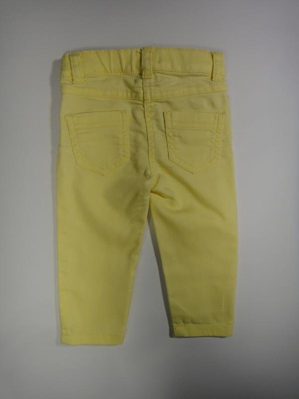 Желтые джинсы f&f 6-9 мес, 74 см - Фото 2
