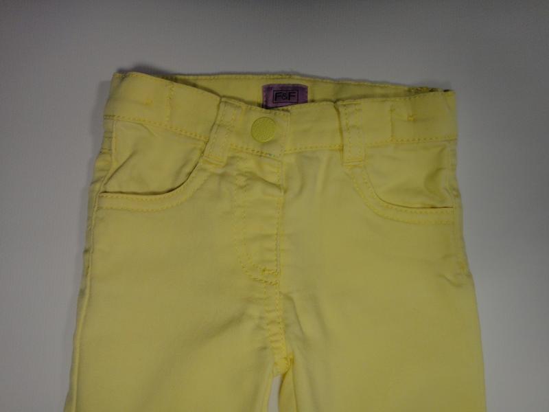 Желтые джинсы f&f 6-9 мес, 74 см - Фото 3