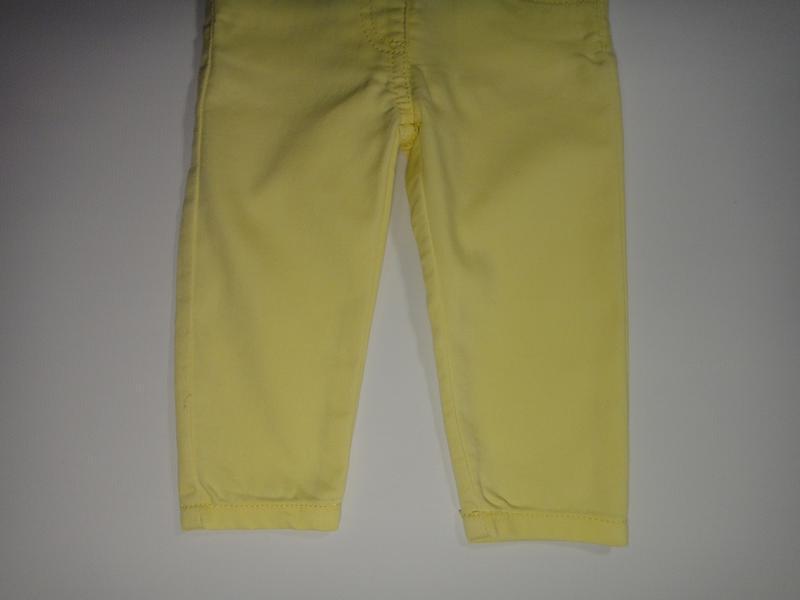 Желтые джинсы f&f 6-9 мес, 74 см - Фото 4