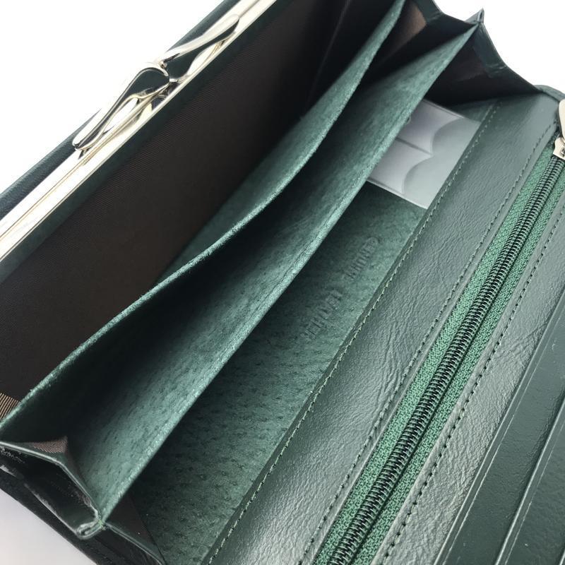 Зеленый женский кошелек las fernando - Фото 6