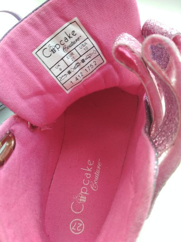 Кеды-хайтопы cupcake couture (германия)  р.27  с мигалками. - Фото 5