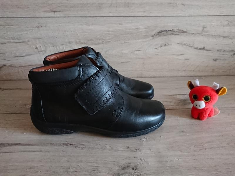 Ботинки деми hotter хоттер 38 р 5 р 24,5 кожа липучки - Фото 2