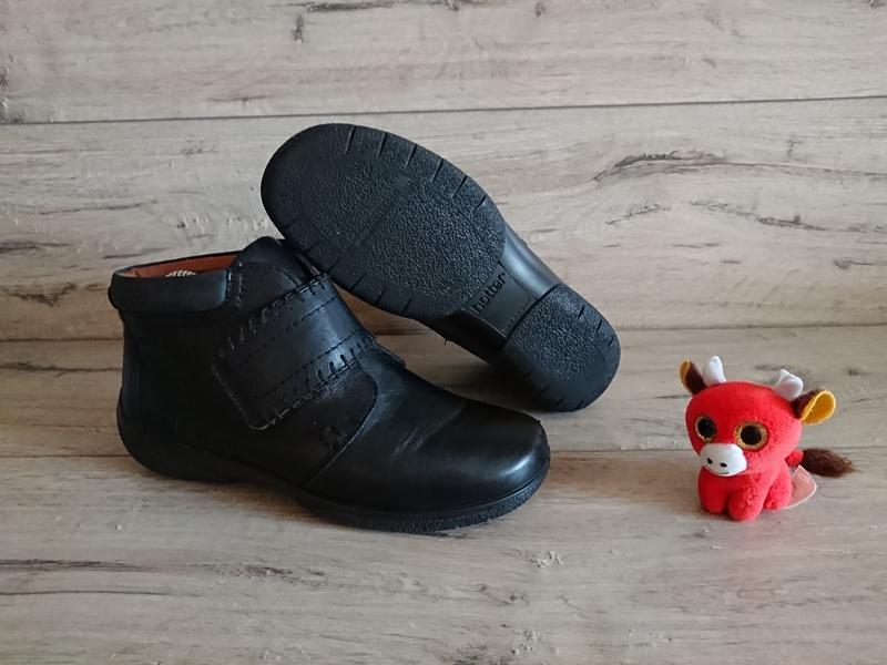 Ботинки деми hotter хоттер 38 р 5 р 24,5 кожа липучки - Фото 4