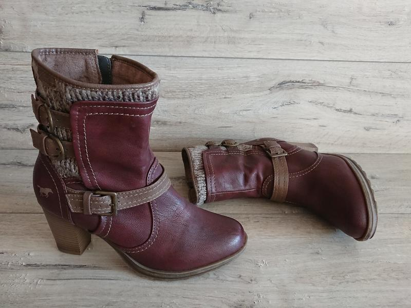 Полусапожки ботинки mustang мустанг 39-40 р 26 см